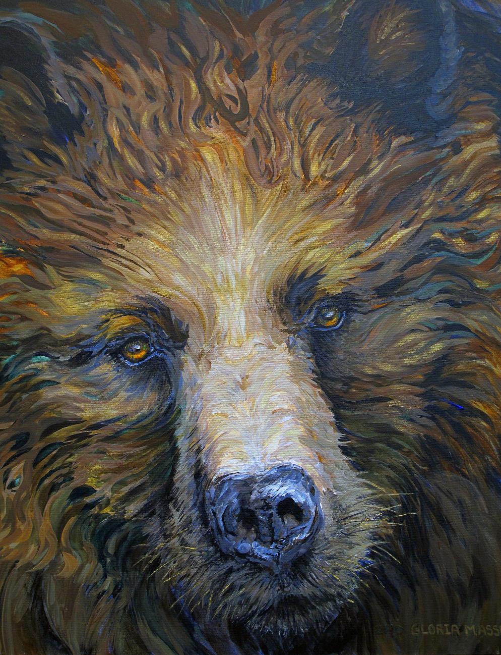 Mother Bear 2010 Acrylic 30x36