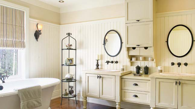 Beautiful Decoration Salle De Bain Rustique Contemporary - Design ...