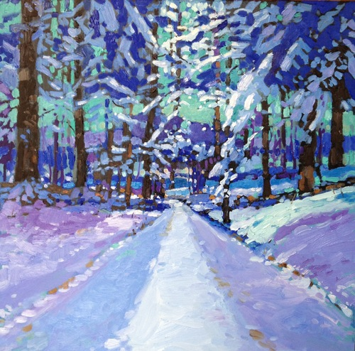 Snowy Woods 2 Mark Altrogge Paintings