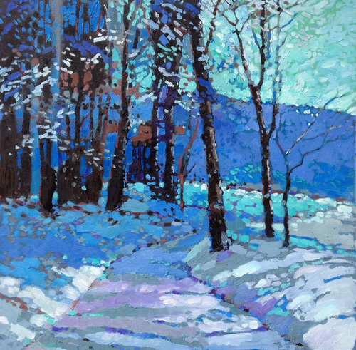 Snowy Woods 3 Mark Altrogge Paintings