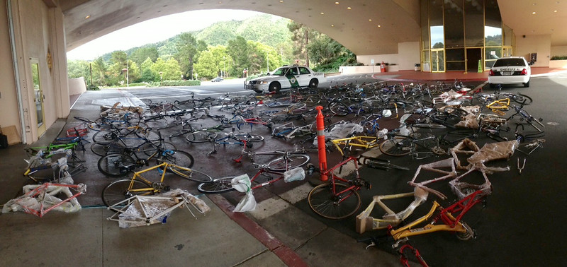 Trove of recently recovered bikes.