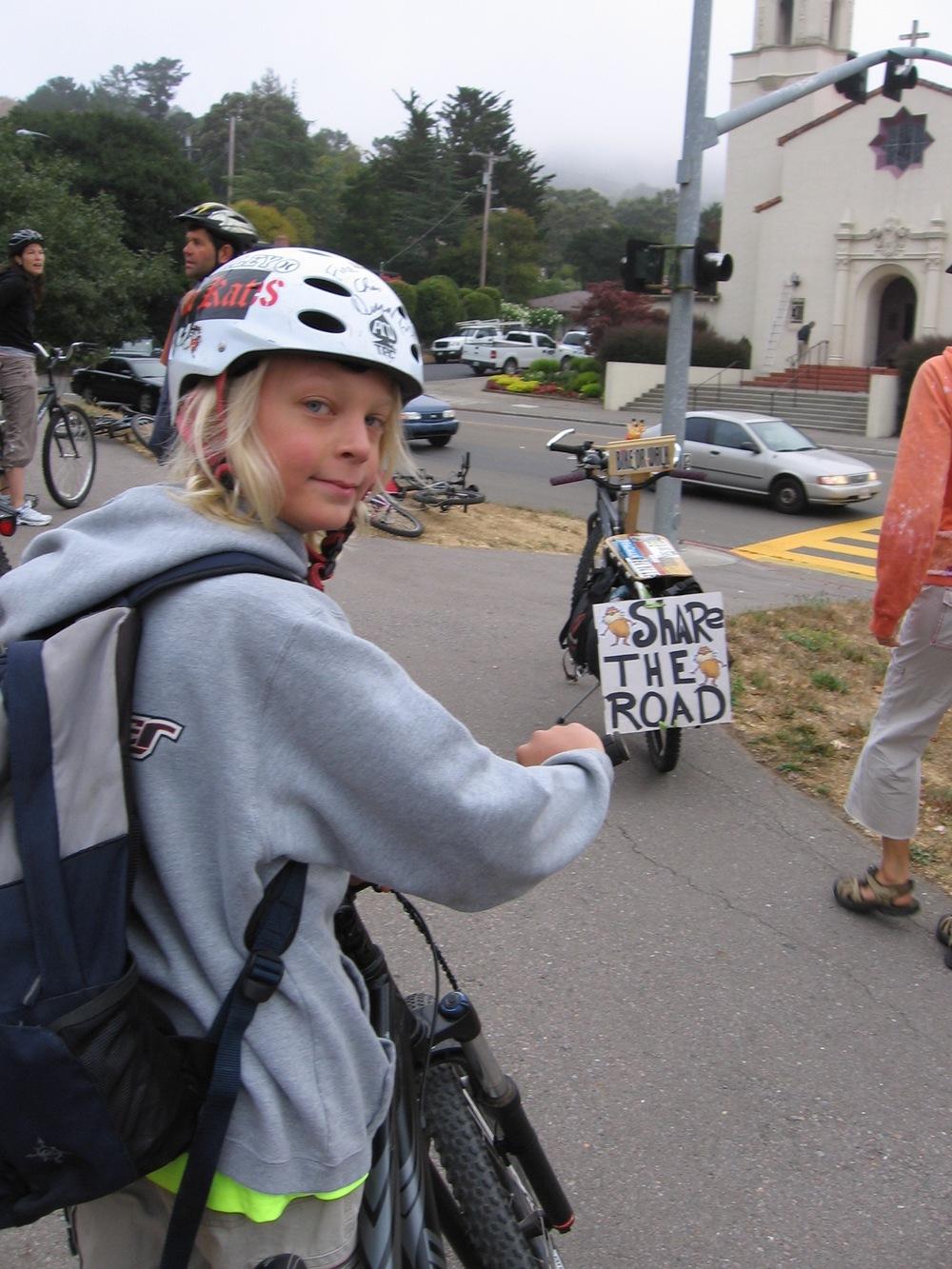 Manor School Walk and Bike Day 2007.