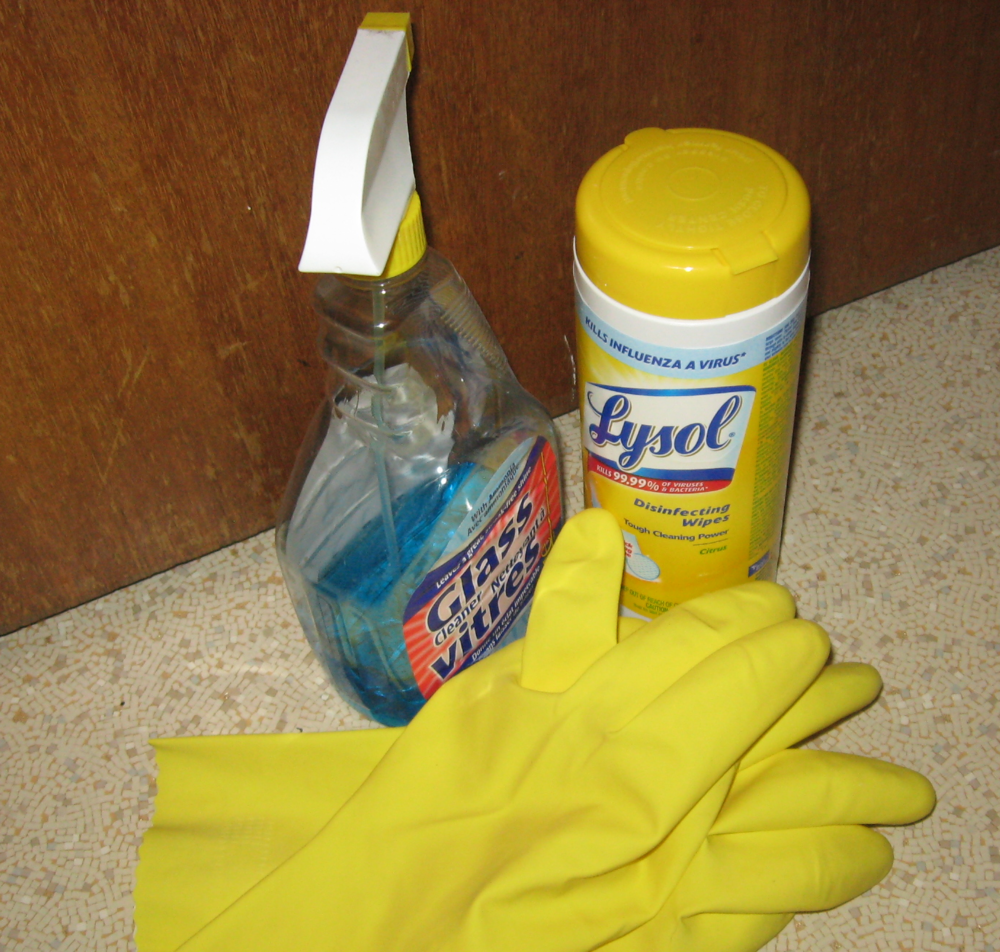 Get out the cleaning supplies!