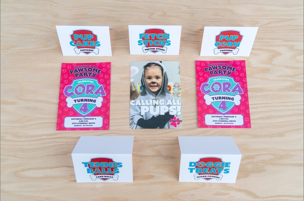 Custom Birthday Party Invitations + Dessert Table Signage