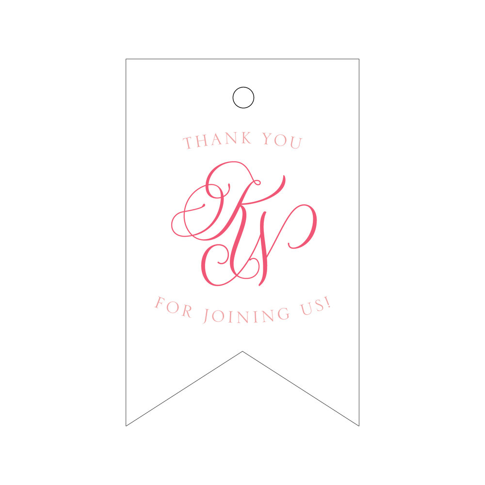 Letterpress Gift Tag T241 Soiree Signatures