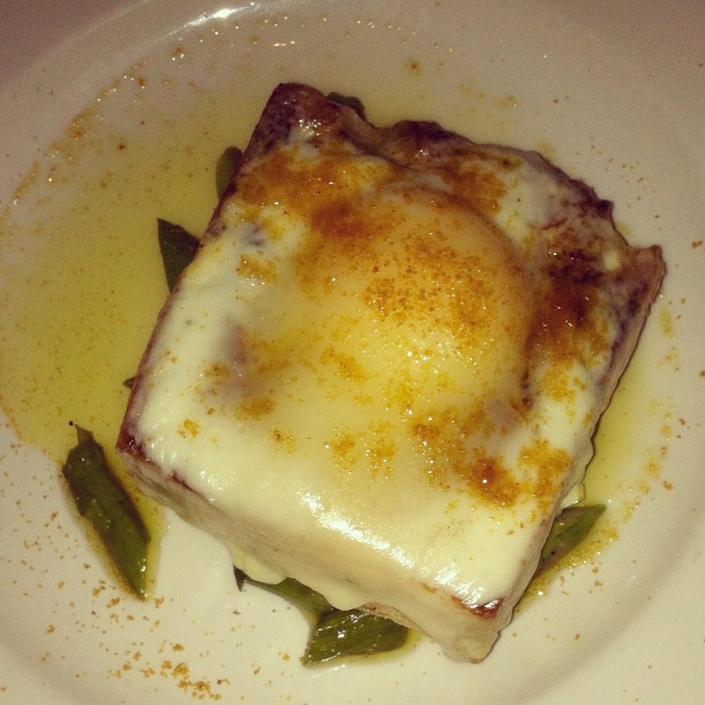 Truffle egg toast, photo by shanaspeakswine.com