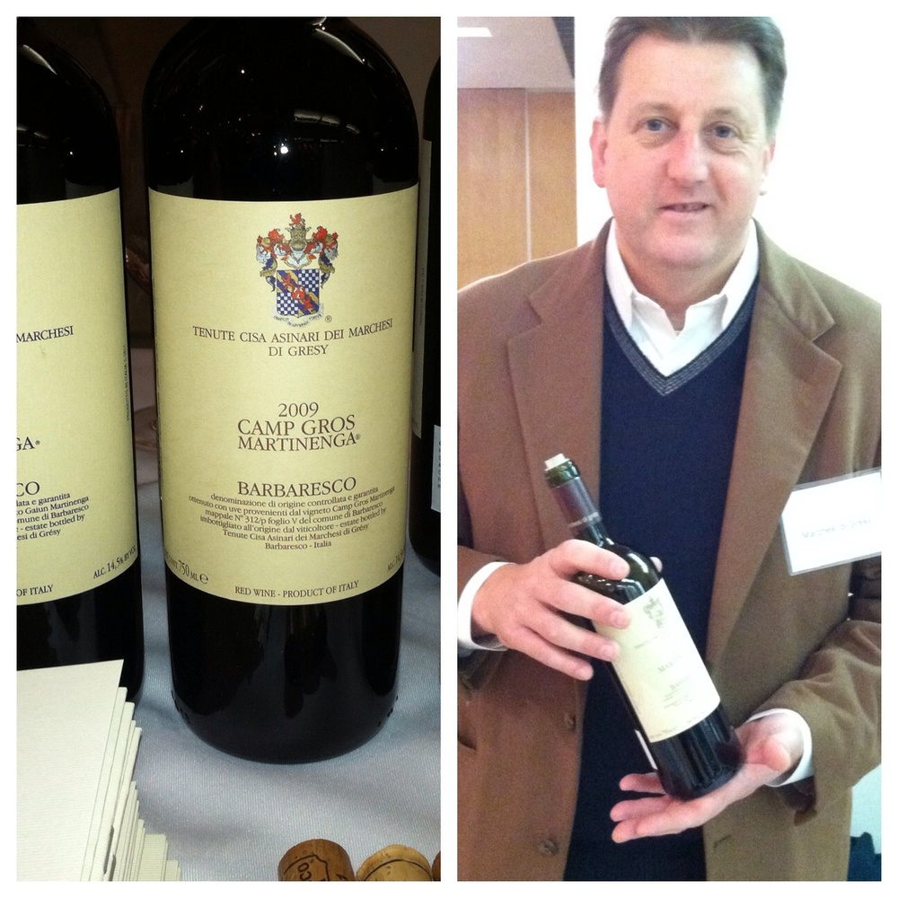 Marchesi di Gresy Barbaresco and Jeff Chilcott, Cellarmaster.  Photo by Shana Speaks Wine.