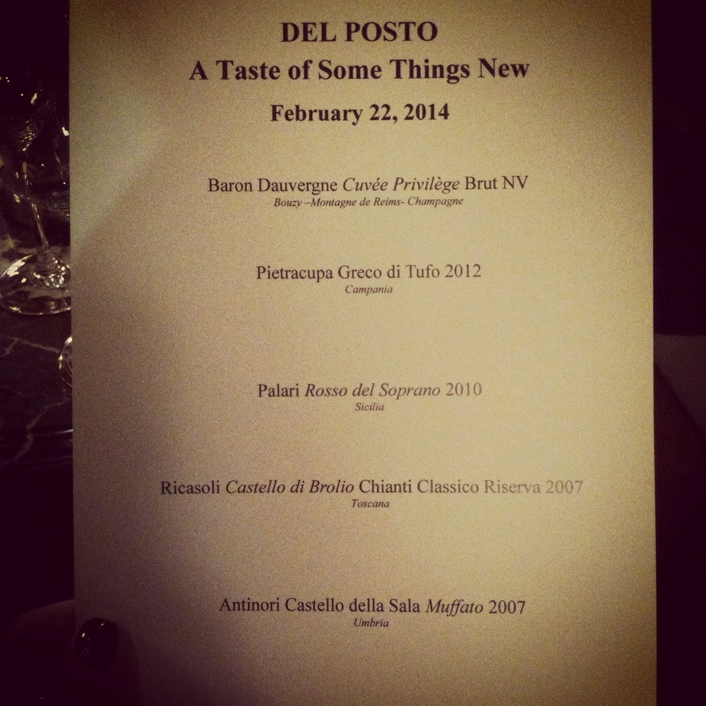 Tasting menu, photo by Shana Speaks Wine