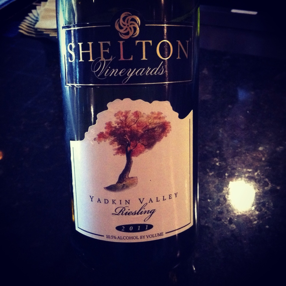Shelton Vineyards Riesling, photo by Shana Sokol of Shana Speaks Wine