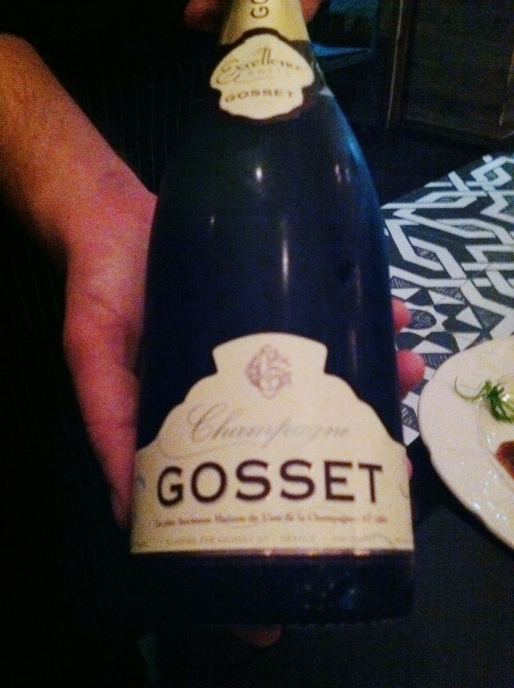 Gosset Champagne, photo by Shana Sokol of Shana Speaks WIne