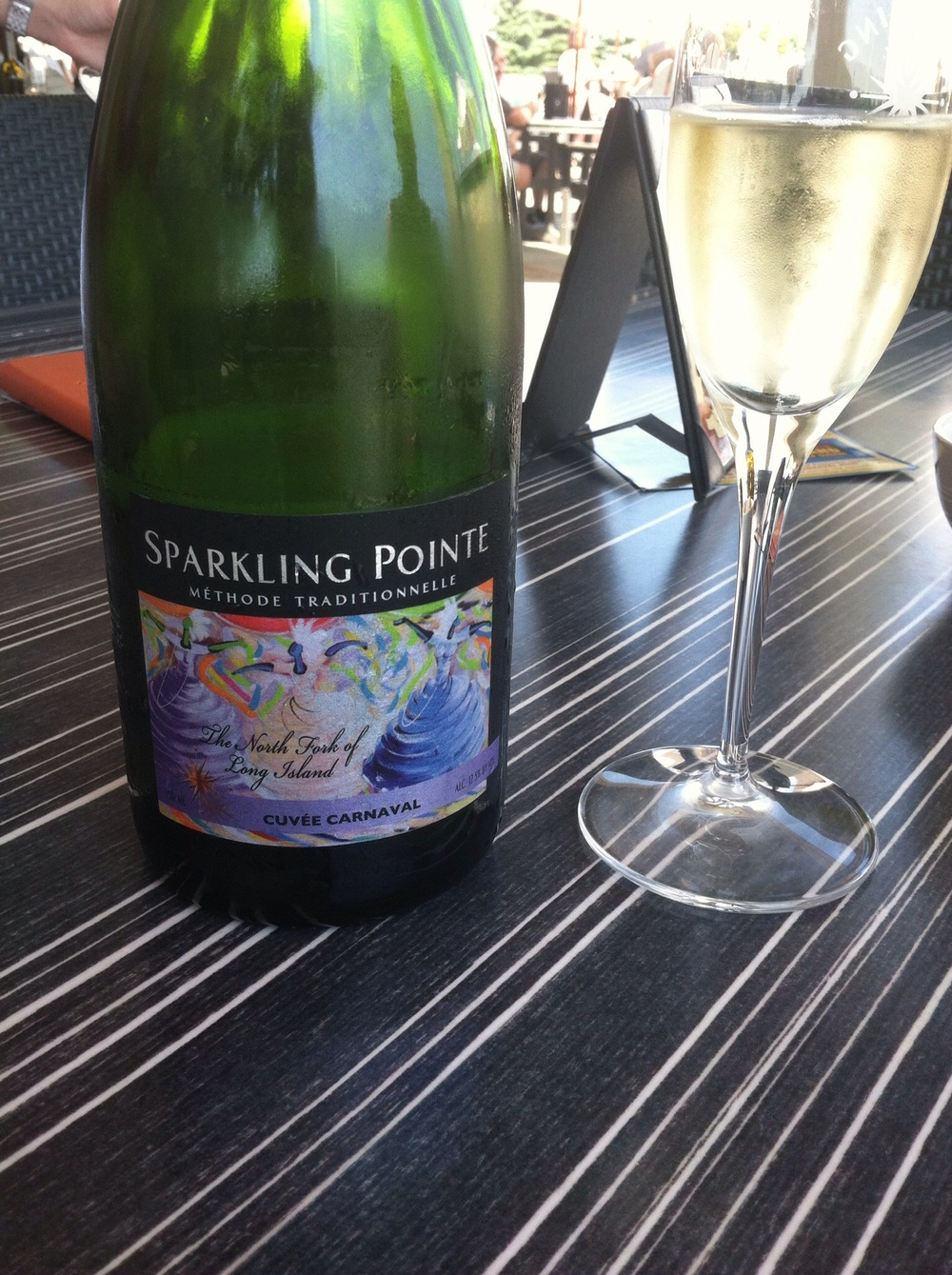 Sparkling Pointe Cuvee Carnaval Blanc, NV.  Photo by Shana Sokol, Shana Speaks Wine.