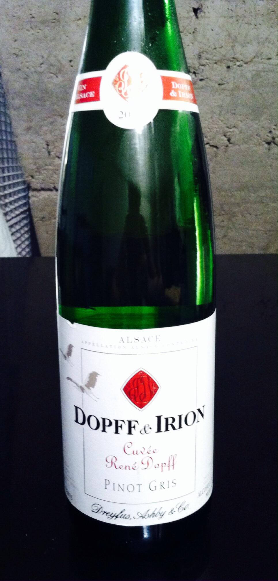 Dopff & Irion Cuvee, Pinot Gris, Alsace, 2012. Photo by Shana Sokol, Shana Speaks Wine.