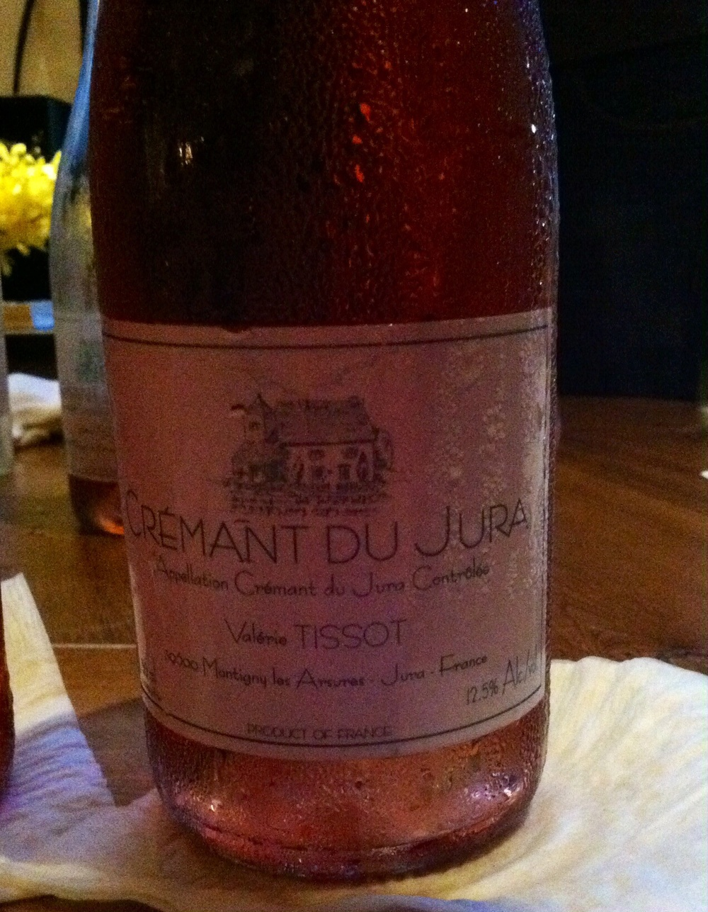 Tissot, Cremant du Jura, France, NV. Photo by Shana Sokol, Shana Speaks Wine