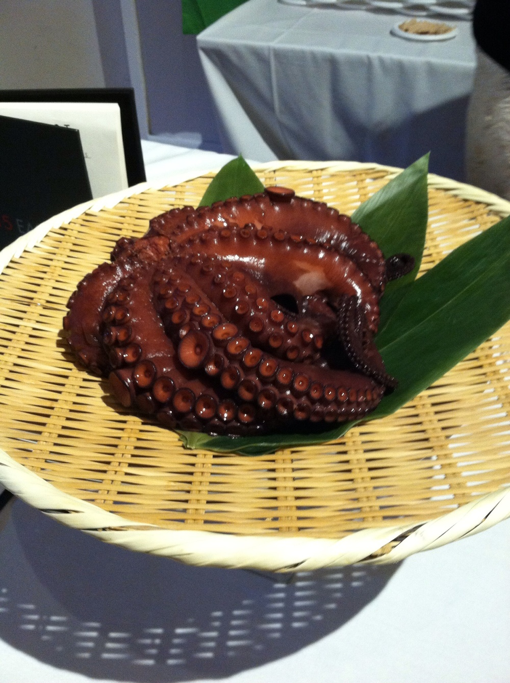 That's a whole octopus, isn't it purdy? Photo by Shana Sokol, Shana Speaks Wine.