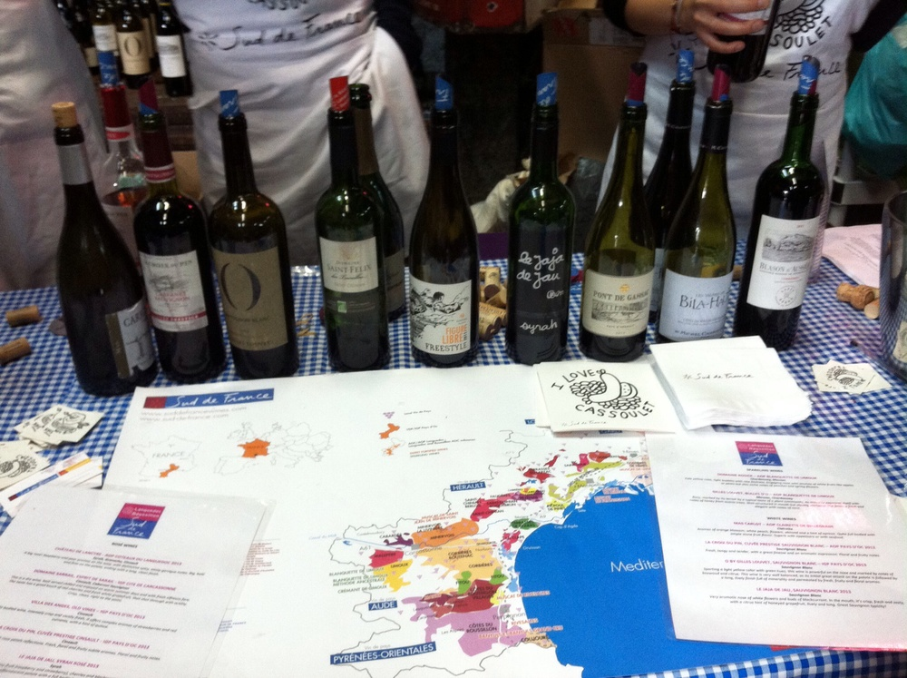 Sud de France wine tasting.  Photo by Shana Sokol, Shana Speaks Wine.