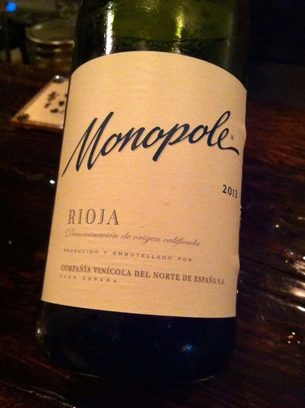 Monopole Rioja Blanca, Spain, 2013. Photo by Shana Sokol, Shana Speaks Wine.