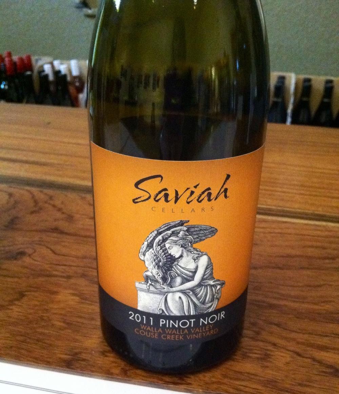 Saviah Cellars Pinot Noir. Photo by Shana Sokol, Shana Speaks Wine.
