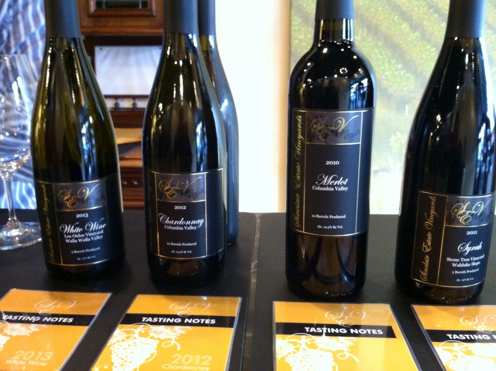 Sinclair Vineyards Tasting Lineup. Photo by Shana Sokol, Shana Speaks Wine.