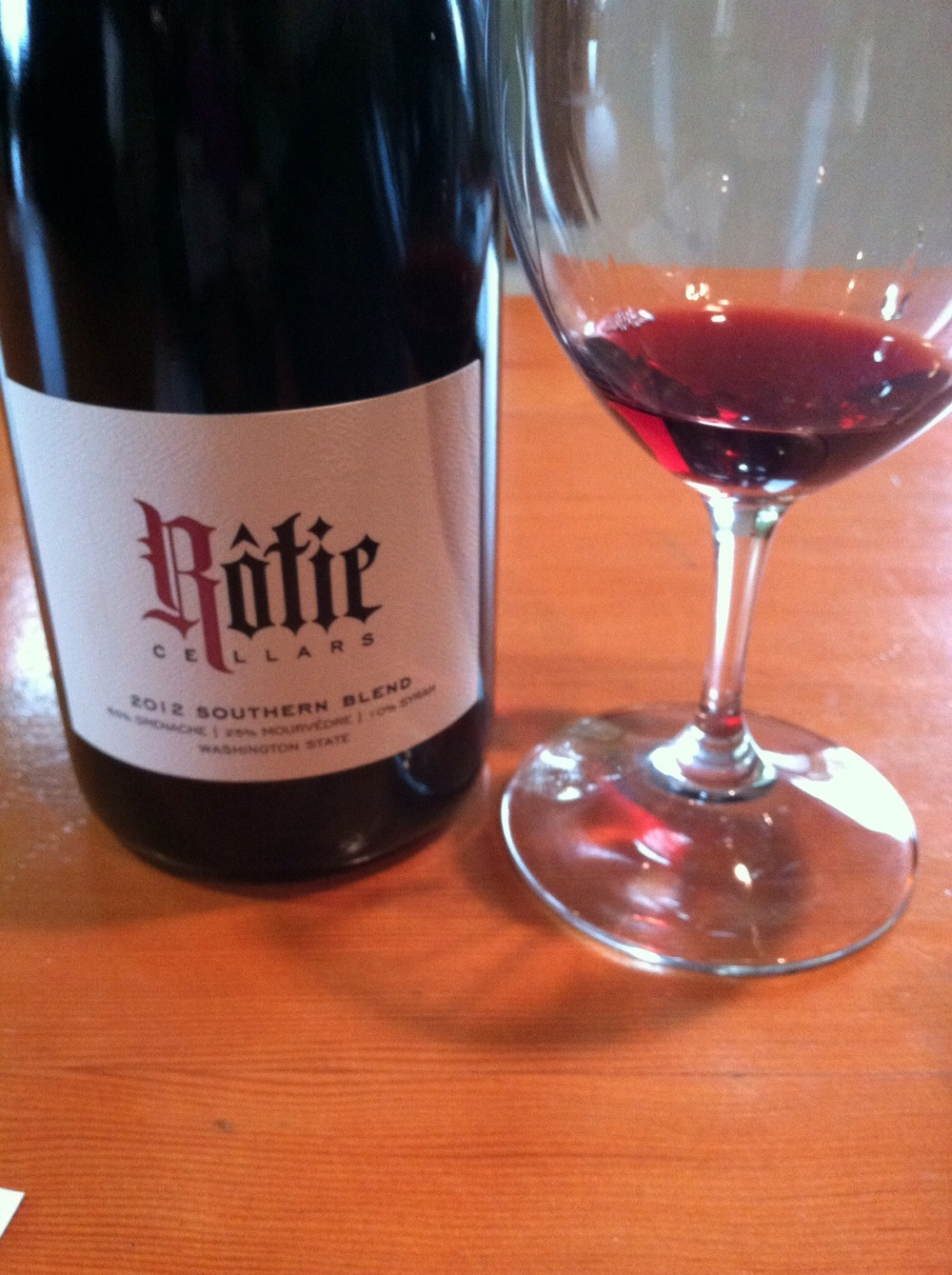 Rotie Cellars Southern Blend, 2012.  Photo by Shana Sokol, Shana Speaks Wine.