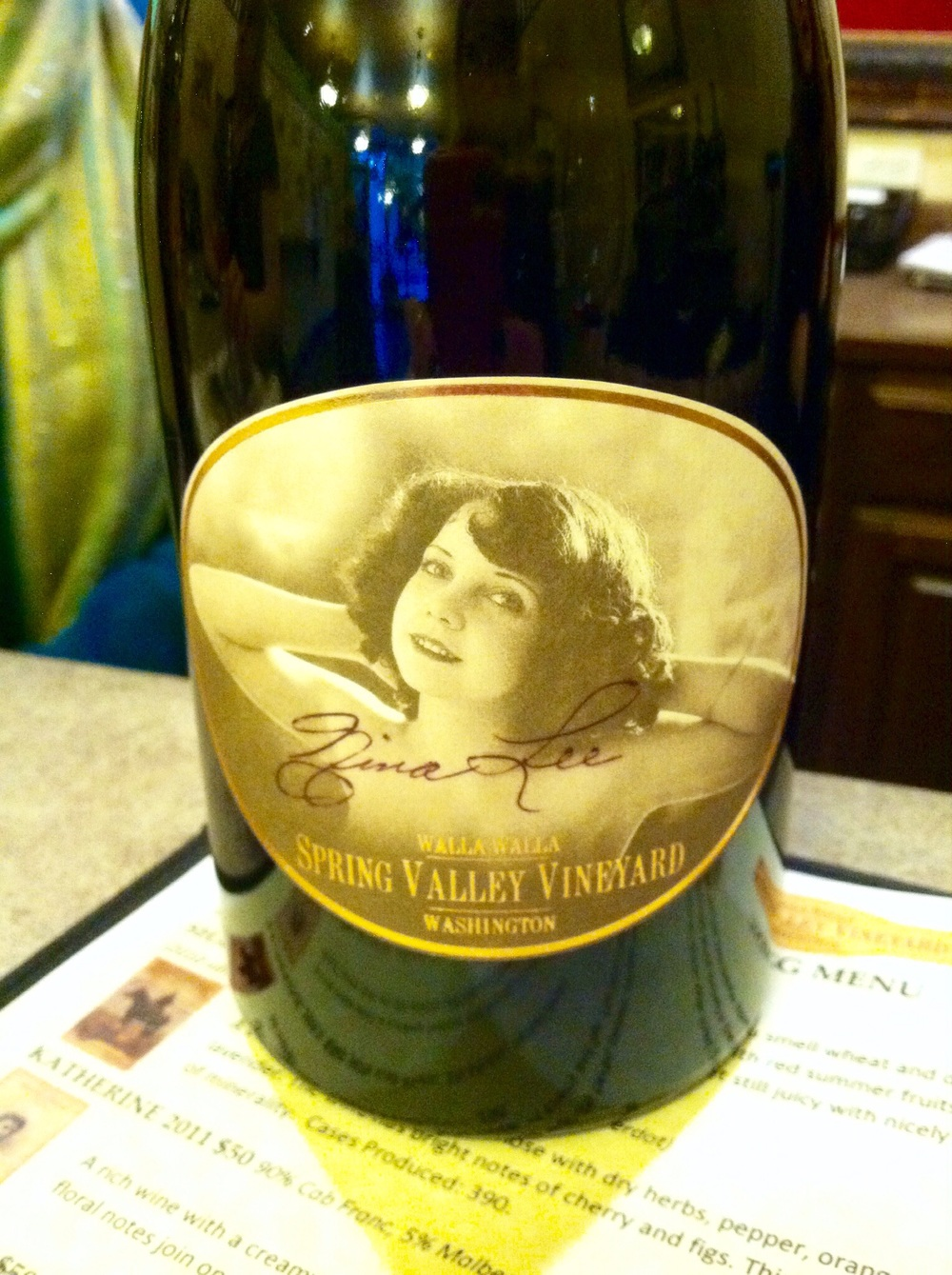 My favorite label - isn't she sassy? Photo by Shana Sokol, Shana Speaks Wine.