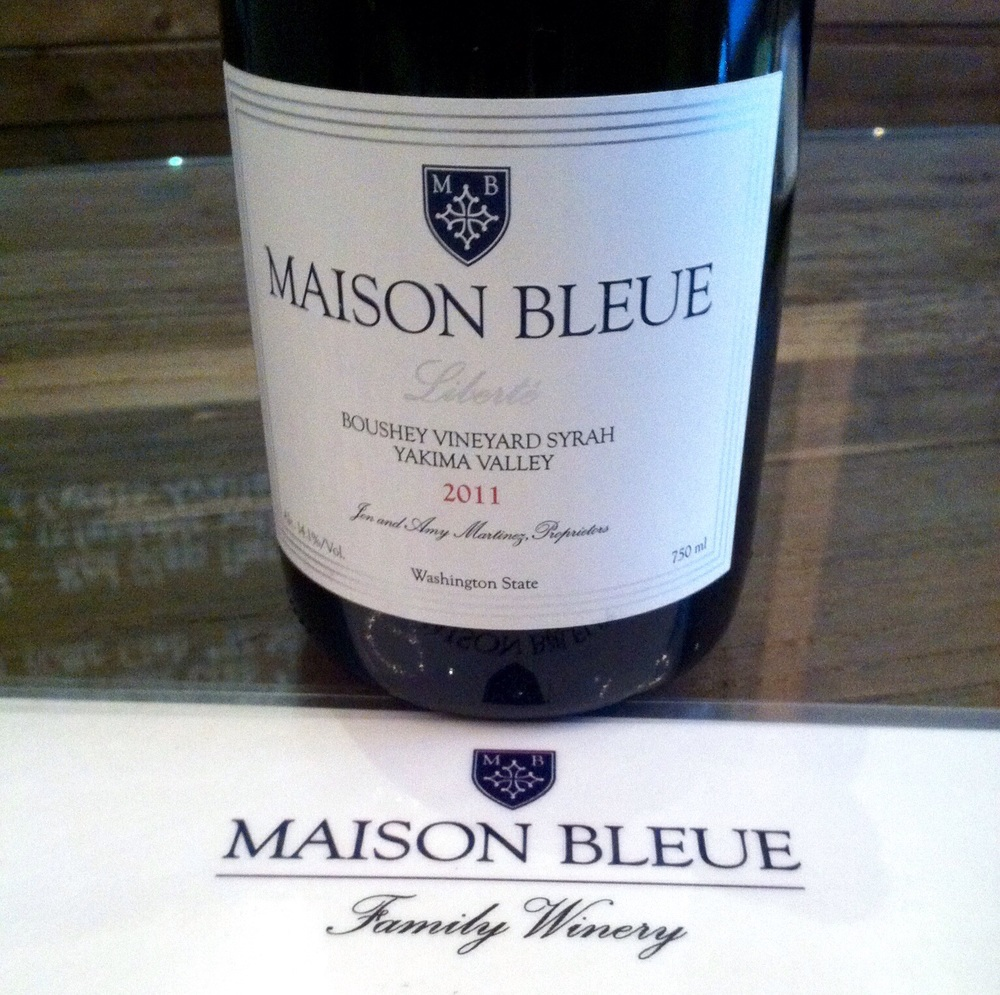 Maison Bleue Syrah, 2011.  Photo by Shana Sokol, Shana Speaks Wine.