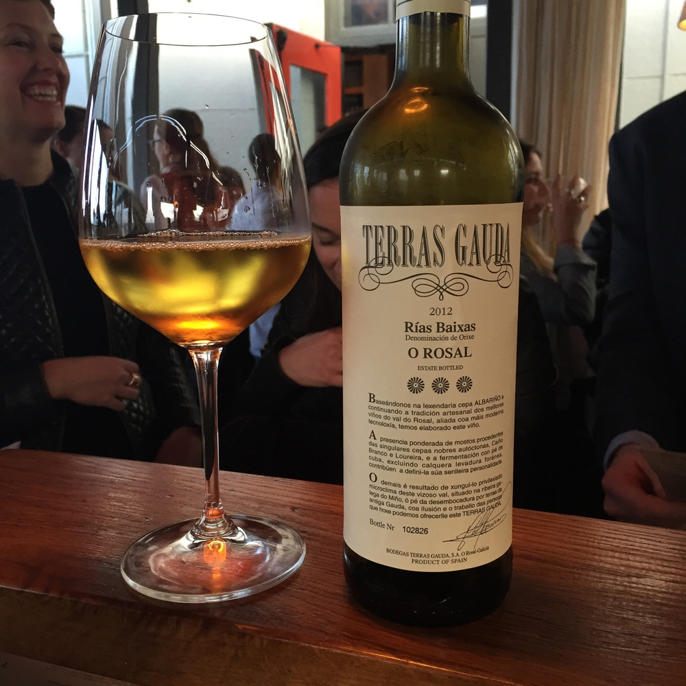 Terras Gauda, O Rosal, Rias Baixas, 2012, at Coqueta. Photo by Shana Sokol, Shana Speaks Wine.