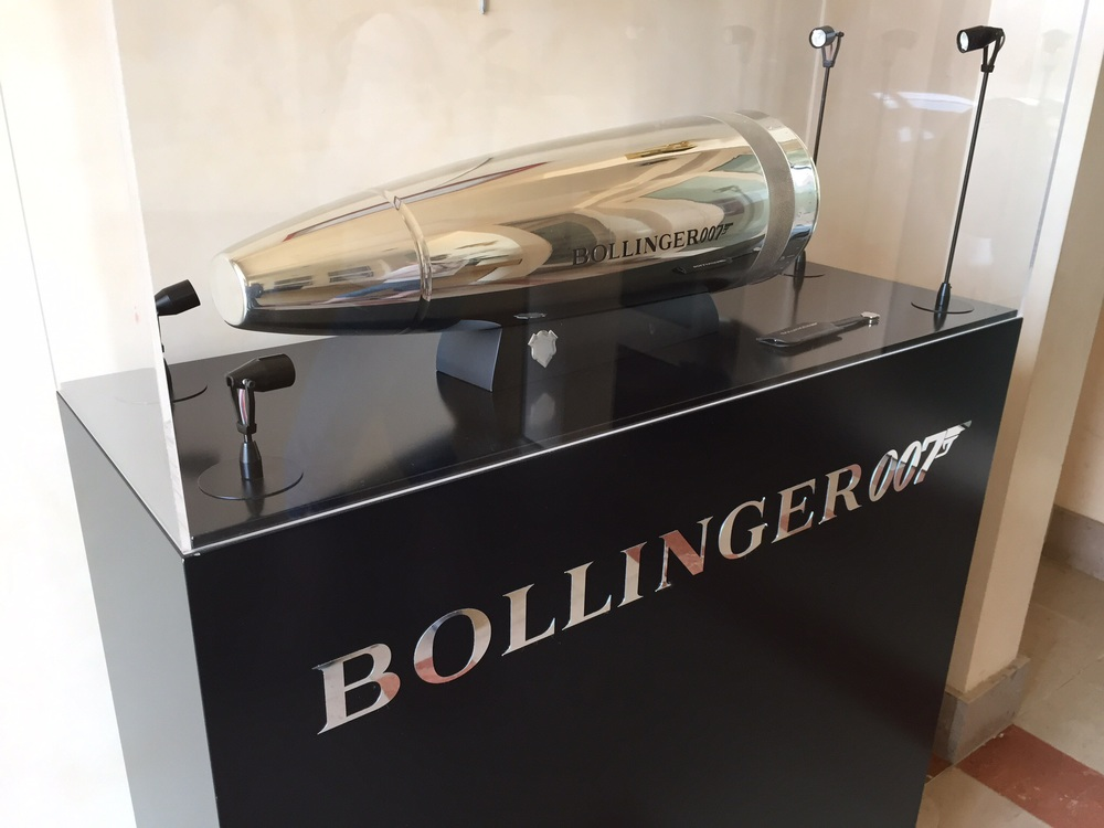 Bollinger's James Bond packaging. Photo by Shana Sokol, Shana Speaks Wine.