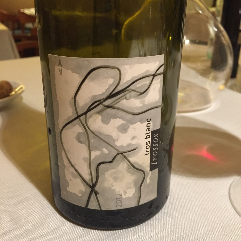 Trosses Garnacha Blanca, one of the most memorable wines we had all trip