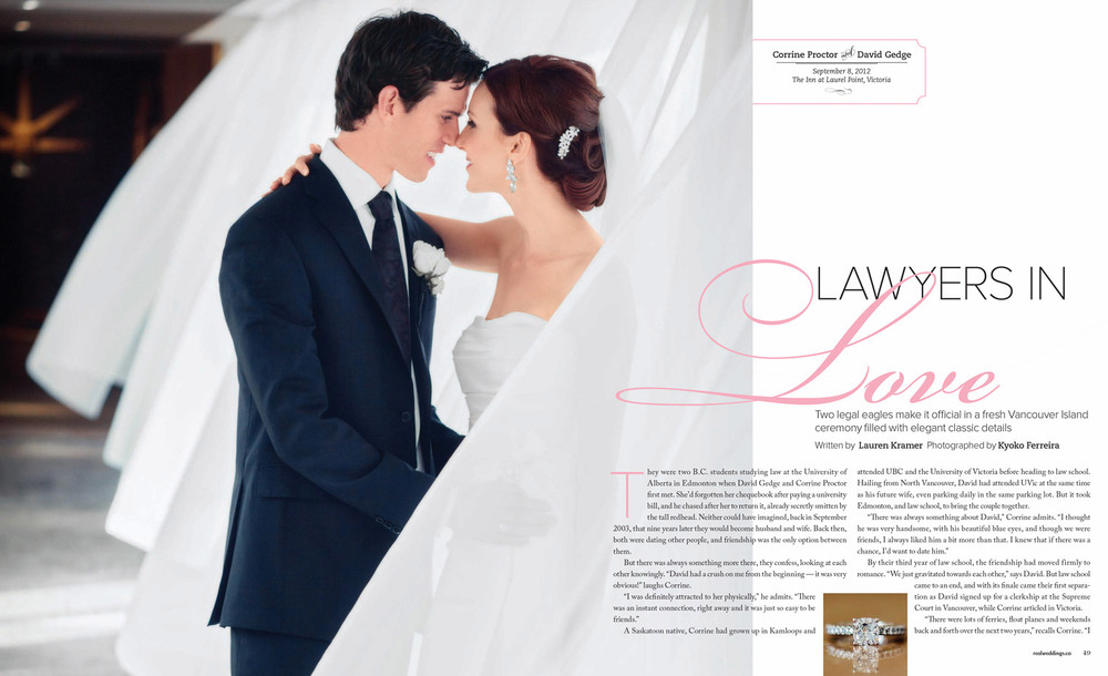 As seen in  Real Weddings Magazine   Photos by Kyoko Fierro for Leanne Pedersen Photographers   www.leannepedersen.com