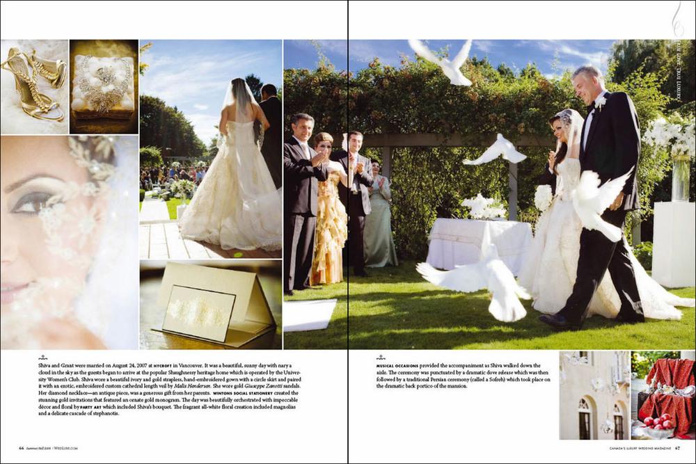 As seen in Wedluxe Magazine  Photography by Kyoko Fierro for Leanne Pedersen Photographers  © Leanne Pedersen Photographers  www.leannepedersen.com