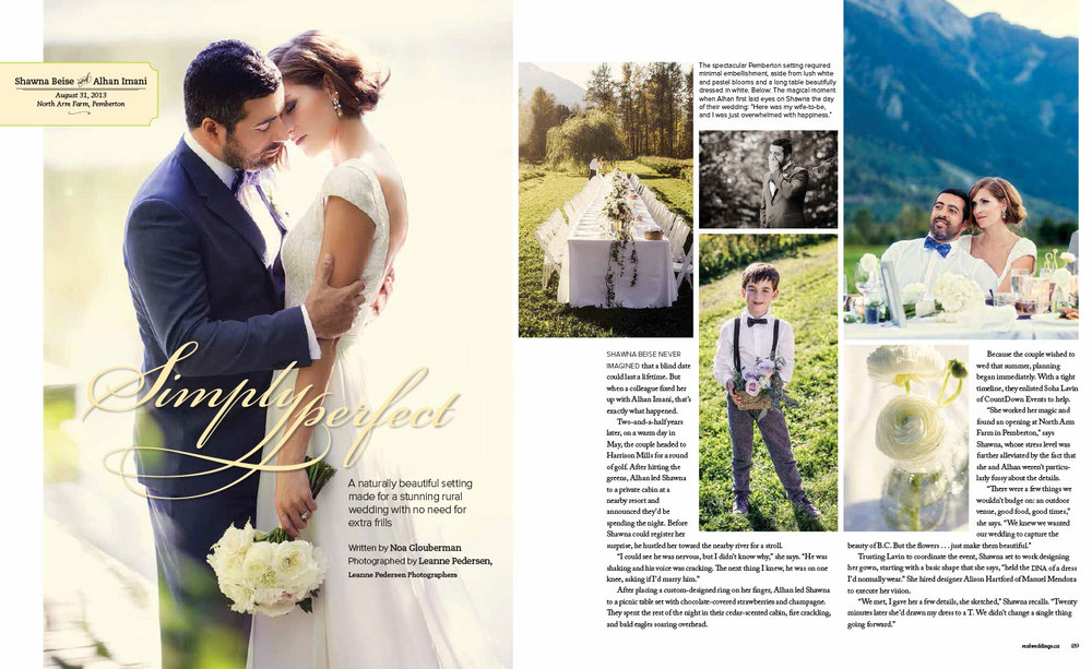 As seen in Real Weddings Magazine  Photos by Leanne Pedersen Photographers   www.leannepedersen.com