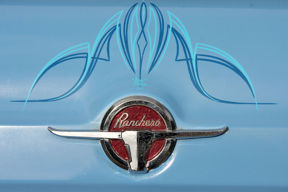 1965 Ranchero Emblem with Pinstipe Detail