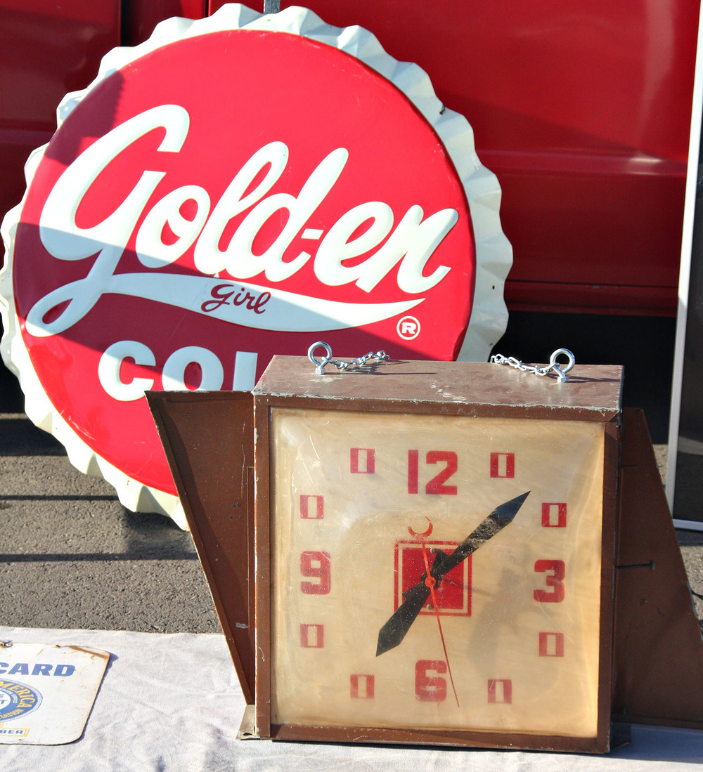 Vintage Golden Girl 1960 and Vintage 1947 Chevy clock