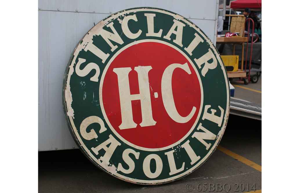 Big D '50's Vintage Sinclair Gasoline Sign
