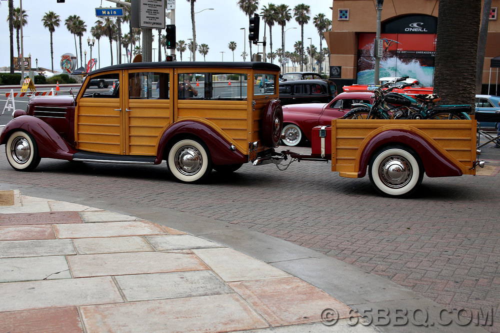 65bbq woodie huntingbeach car show