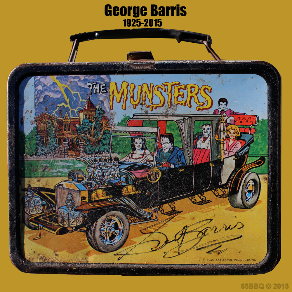 George Barris signature lunch box the munsters 65bbq