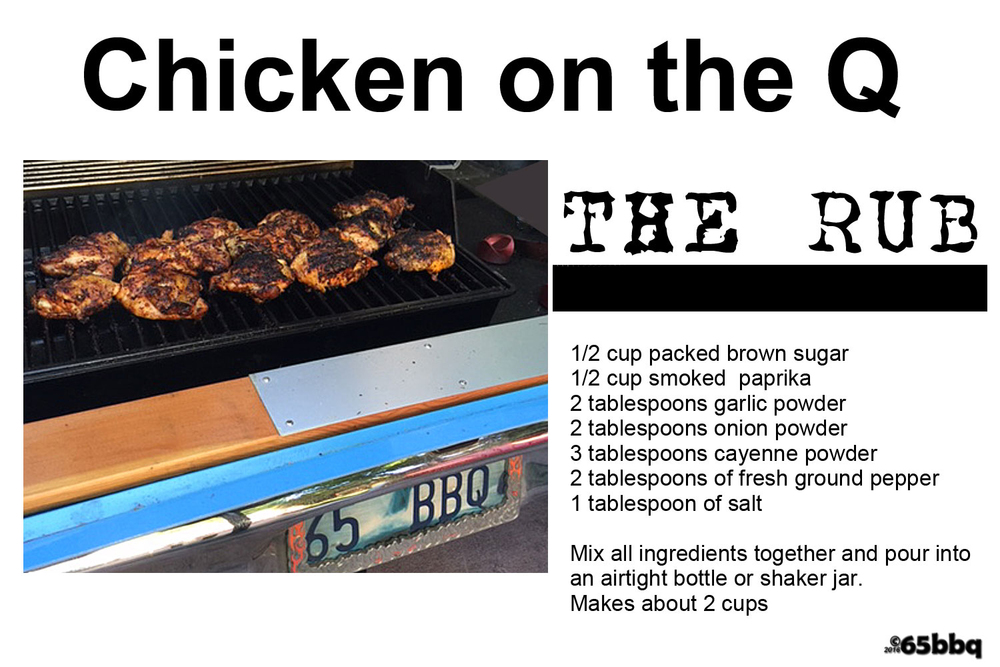 Chicken on the Q 65bbq