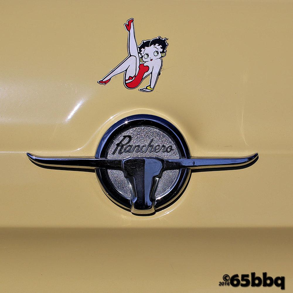 Ranchero w Betty Boop emblem 65bbq