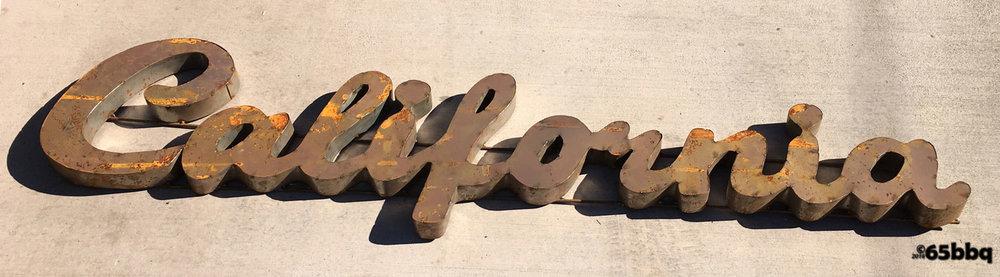 Pomona Swap Meet California Metal Sign 65bbq