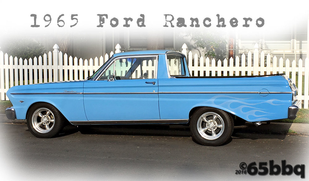 The Ranchero & the blue q 65bbq