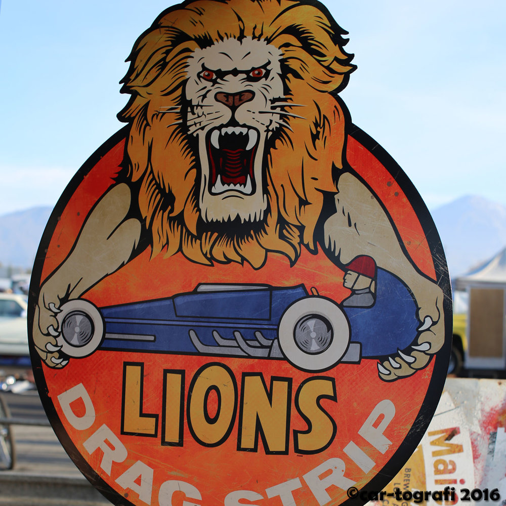 Lion Drag Stripe Sign