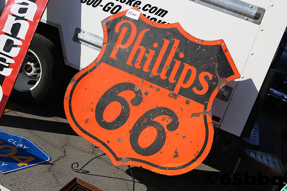Vintage Phillips 66 tin sign