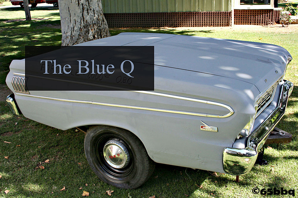 The blue q found in Bakerfield 65bbq