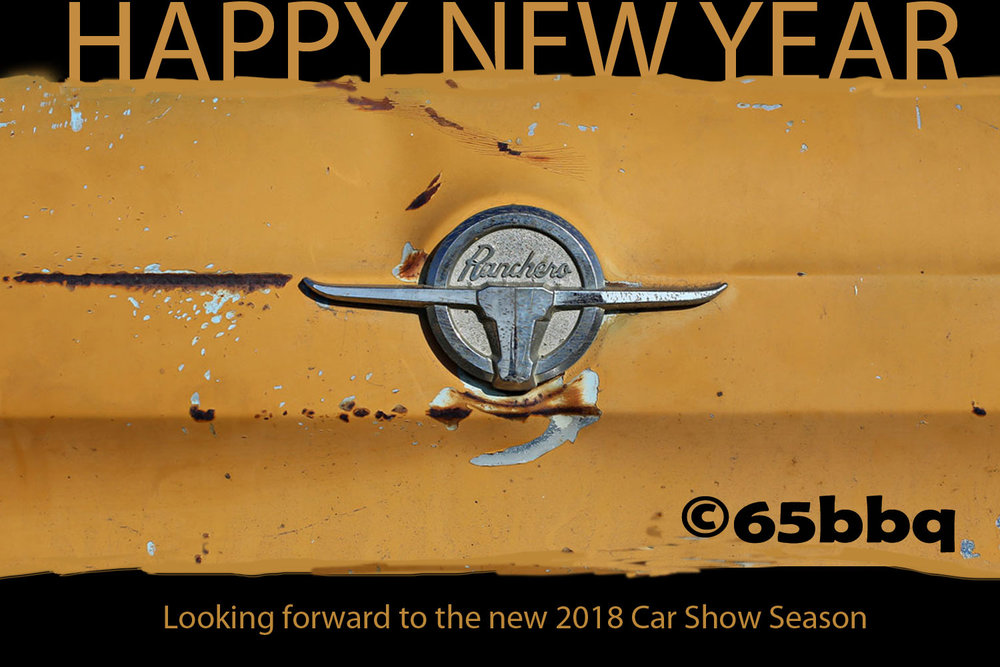 happy new year from the Ranchero &the blue Q