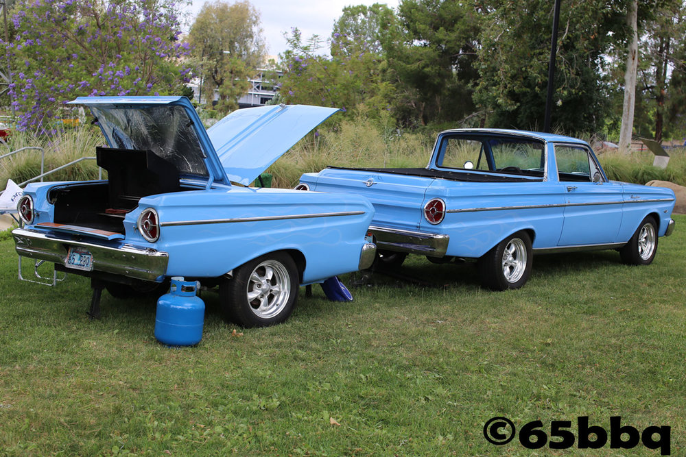The Ranchero and the Blue Q at Johnny Carson Park with the Road Kings 2017