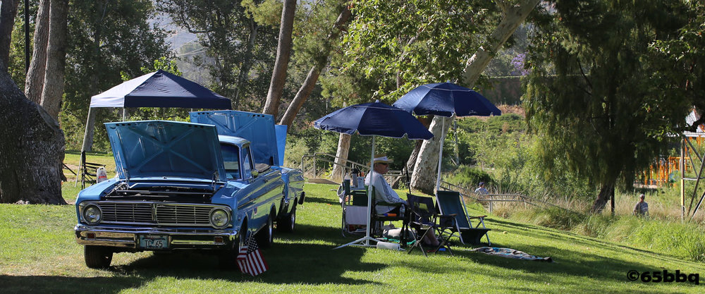 The Ranchero and the Blue Q at Johnny Carson Park