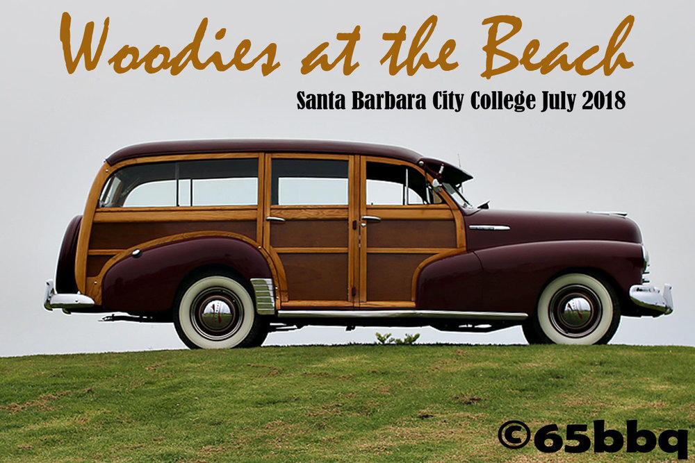 Woodies at the Beach at Santa Barbara City College July 2018 65bbq