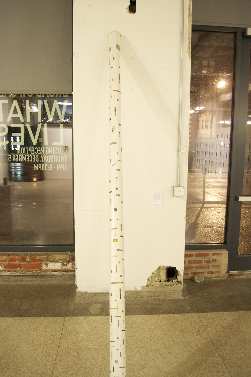 there is no proof:pillar two, latex acrylic house paint,  120x5x5in