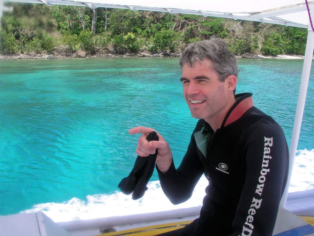 "A famous Dentist and Scuba Diver returns from ""Rainbow Reef"""