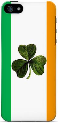 Irish Flag and Shamrock